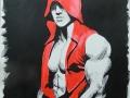 Man in red hoodie